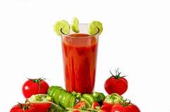 西红柿汁刷新的饮料健康饮料夏天喝 免版税图库摄影