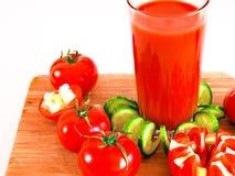 西红柿汁刷新的饮料健康饮料夏天喝 图库摄影