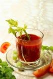 西红柿汁用芹菜 图库摄影