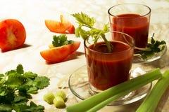 西红柿汁用芹菜 库存图片