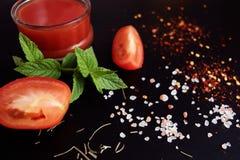西红柿酱和成份 免版税图库摄影