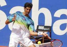 巴西网球员托马斯・贝鲁奇 免版税图库摄影