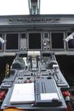 巴西航空工业公司驾驶舱 免版税库存图片