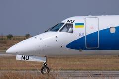 巴西航空工业公司ERJ-145地方飞机 图库摄影