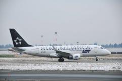 巴西航空工业公司ERJ 175 图库摄影