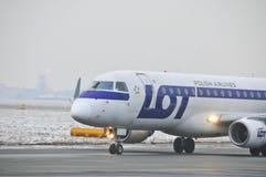 巴西航空工业公司ERJ 170 SP-LIC 免版税图库摄影