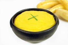 巴西菜mandioquinha纯汁浓汤 图库摄影