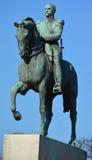 西蒙・波利瓦古铜色骑马雕象  免版税库存照片
