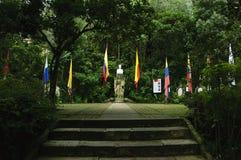 西蒙・波利瓦议院在波哥大,哥伦比亚 图库摄影