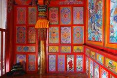 西藏人里面Langmusi寺庙 免版税库存照片