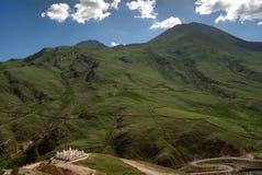 西藏传统建筑Stupas 库存照片