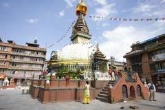西藏佛教徒stupa 免版税库存图片