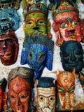 西藏佛教神面具 图库摄影