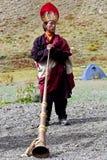 西藏修士 免版税库存照片