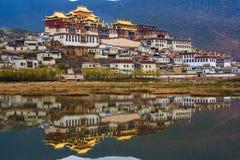 西藏修道院。 库存图片