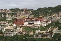 西藏修道院 免版税库存图片
