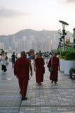 西藏和尚在香港 库存图片