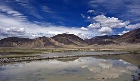 西藏喜马拉雅山 免版税库存照片