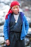 西藏女孩,尼泊尔 免版税库存照片