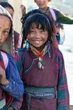 西藏女孩,尼泊尔 库存照片