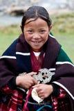 西藏女孩 免版税库存图片