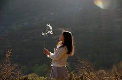 西藏女孩 免版税库存照片