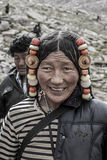 西藏妇女纵向 免版税图库摄影
