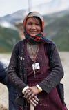 西藏妇女 免版税库存照片
