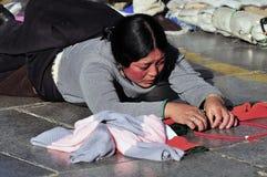 西藏妇女 图库摄影