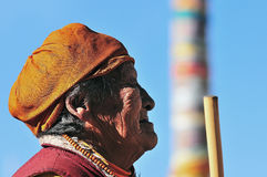 西藏妇女 免版税图库摄影