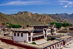 西藏学院,拉卜楞喇嘛寺院 免版税库存照片