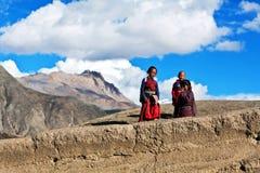西藏孩子,尼泊尔 库存照片