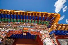 西藏寺庙房檐 图库摄影