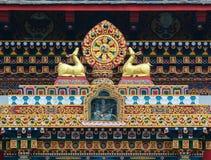 西藏寺庙细节在阿格拉,印度 免版税库存图片