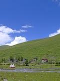 西藏村庄 图库摄影