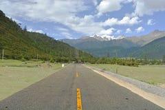 西藏柏油路 库存照片