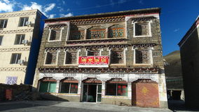 西藏样式房子在新都桥,四川 库存图片