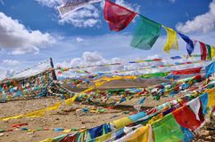 西藏横幅 库存照片