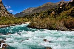 西藏河 库存图片