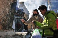 西藏男人和妇女 图库摄影