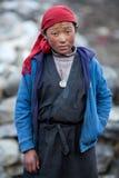 西藏男孩,尼泊尔画象  库存图片