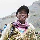 西藏男孩 免版税库存照片