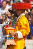 西藏男性传统衣裳 免版税库存图片
