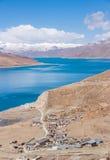 西藏的圣洁湖 免版税库存照片