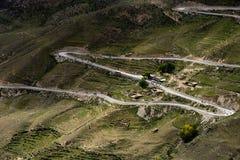 西藏的最美丽的路 免版税库存照片