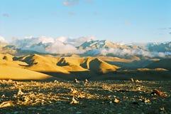 西藏的横向视图 免版税库存图片