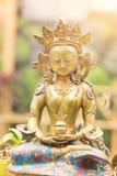 从西藏的菩萨Amitayus雕象 佛教,凝思 免版税库存图片