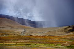 西藏的风景 库存照片
