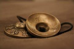 从西藏的Tingsha 库存图片