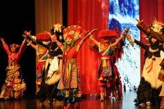 西藏矮小的姐妹大标度情景show†路legend† 库存照片
